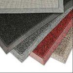 m2 Antirutsch Schmutzfangmatte, grau meliert, 900x1500x10mm, aus PVC für Eingänge im Innenbereich