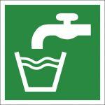 Trinkwasser, selbstklebend, Kunststofffolie selbstklebend, EverGlow HI® 150, Rettungszeichen, ISO 7010, 200 x 200 mm,, 150mcd/m2