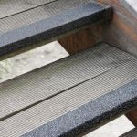Antirutsch Treppenkantenprofil - GFK, 70x800x30mm, schwarz, bei mittlerer/hoher Beanspruchung