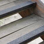 Antirutsch Treppenkantenprofil - GFK, 70x800x30mm, schwarz, bei extremer Belastung, grobe Körnung
