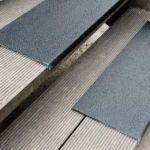 Antirutsch Kantenprofil - GFK, 230x800x30mm, schwarz, schwarz, bei extremer Belastung, grobe Körnung