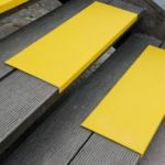 Antirutsch Kantenprofil - GFK, 230x800x30mm, gelb, gelb, bei extremer Beanspruchung, grobe Körnung