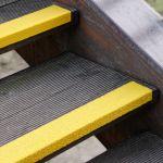 Antirutsch Treppenkantenprofil - GFK, 70x2500x30mm, gelb, gelb, bei extremer Beanspruchung, grobe Körnung