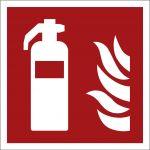 Feuerlöscher, mit doppelseitigem Klebeband, Aluminium selbstklebend, EverGlow HI® 150, Brandschutzzeichen ISO 7010, 200 x 200mm, 150mcd/m2